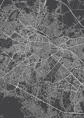 City map Sofia, monochrome detailed plan, vector illustration