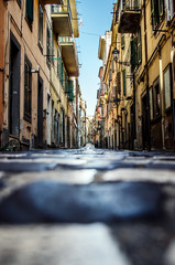 One of the streets in Frascati. Rome. Italy.