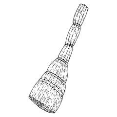 Broom. Vector illustration of a broom. Hand drawn broom.