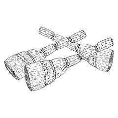 Broom. Vector of a broom. Hand drawn broom.