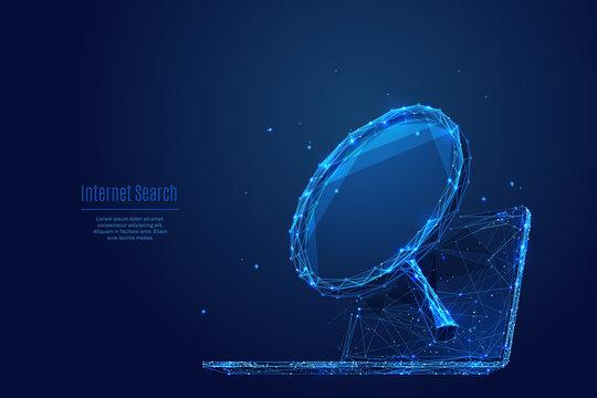 Internet Analysis low poly blue