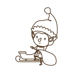 elf with sleigh avatar chatacter