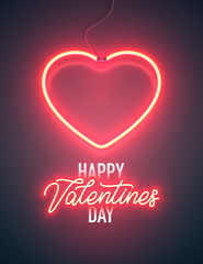 neon vday greeting card