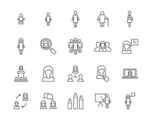 Women vector icons