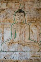 Wandmalerei in Bagan