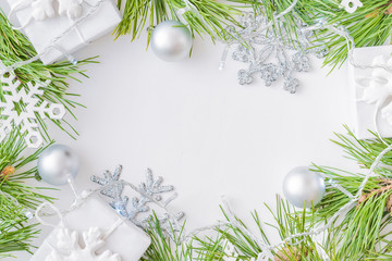Holiday background with christmas branches