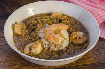 Shrimp Gumbo Closeup