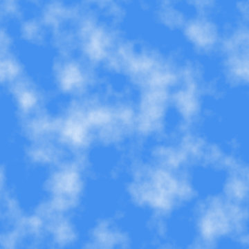 Seamless tile clouds on the sky background