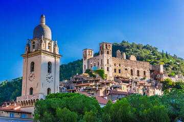 Acrylic Prints Liguria View of Dolceacqua in the Province of Imperia, Liguria, Italy
