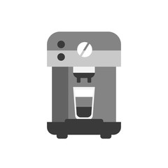 Coffee machine icon, flat style modern design