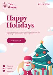 Christmas poster template mockup