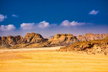 The beauty of the desert of Sinai in Egypt