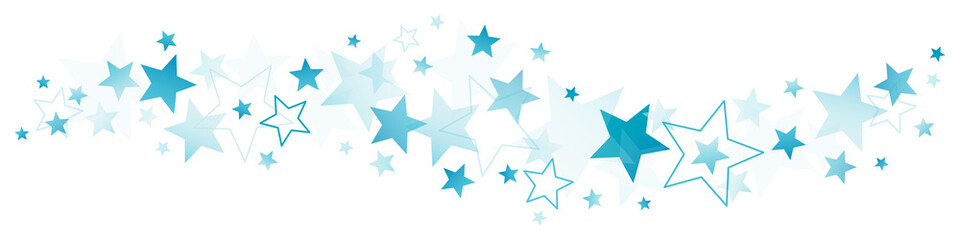 Christmas Blue Stars Border