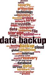 Data backup word cloud