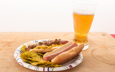 Cold Beer and Hot Dogs