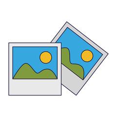 Landscape photos symbol