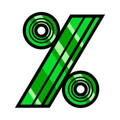 Percent symbol math icon, percentage graphic