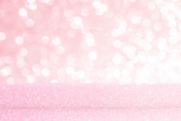 Pink glitter lights texture bokeh background Christmas