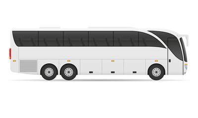 tour city bus stock vector illustration