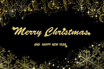 fondo negro y dorado para felicitar la navidad