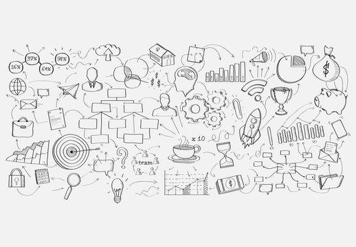 Hand-Drawn Business Plan Layout