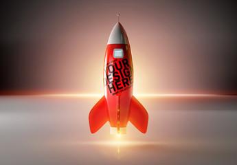 Red Rocket Mockup