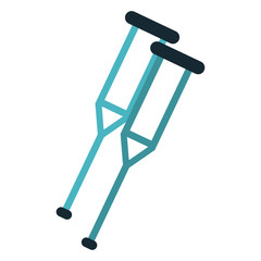 Handicap crutches symbol