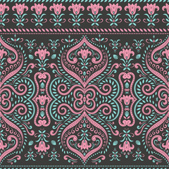 Floral seamless pattern. Vintage vector, paisley elements. Traditional,Turkish, Indian motifs. Great for fabric and textile, wallpaper, packaging or any desired idea.