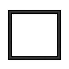Black frame on wall vector background design for your content with place for text. vector isolated on white background