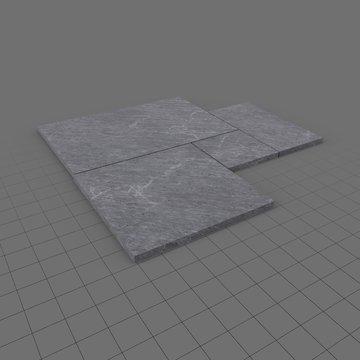 Stone paving tiles set