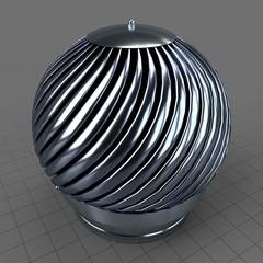 Rotating chimney cap