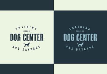 Dog Training Center Logo Layout