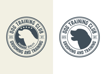 Dog Training Center Emblem Layout