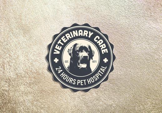 Veterinary Clinic Badge Layout