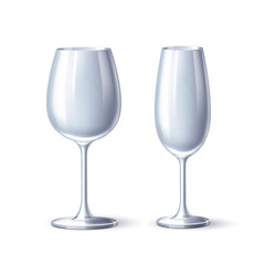 Vector wineglass champagne glass white mock up