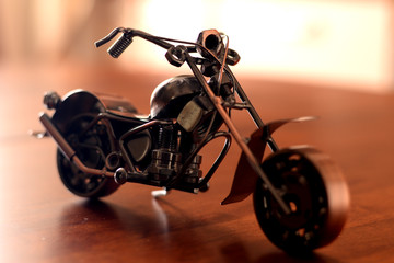 motorcycle, iron motorcycle, toy for men