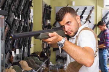 Man choice pneumatic gun