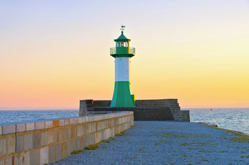 Sassnitz Leuchtturm - Sassnitz, lighthouse in the evening
