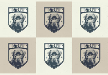 Dog Training Logo Badges