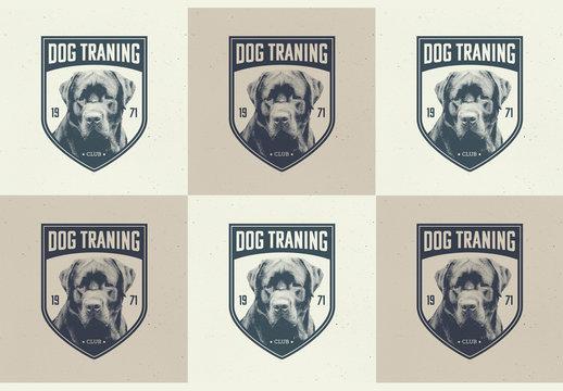 Dog Training Logo Badges