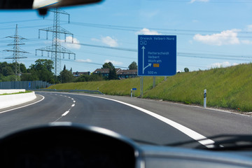 Highway sign in Germany