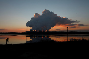 Smoke and steam billows from Belchatow Power Station, Europe's largest coal-fired power plant operated by PGE Group, near Belchatow,