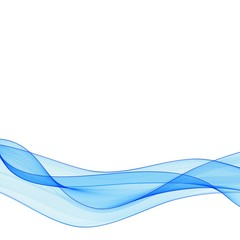 Abstract smooth color wave vector. Curve flow blue motion illustration. Smoke design. Vector lines. eps 10
