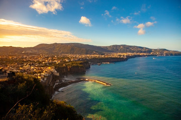 sorrento town coastal one of most popular traveling destination in  south italy Fotomurales