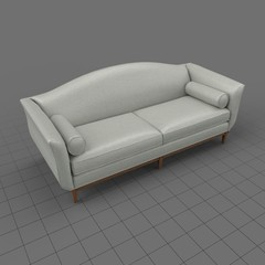 Traditional 2 seater sofa