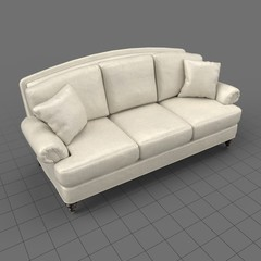 Traditional 3 seater sofa