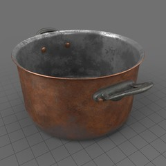 Rustic stock pot