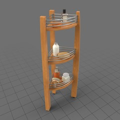 Shower caddy with products