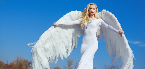 Printed kitchen splashbacks Artist KB Portrait of an elegant, blond angel