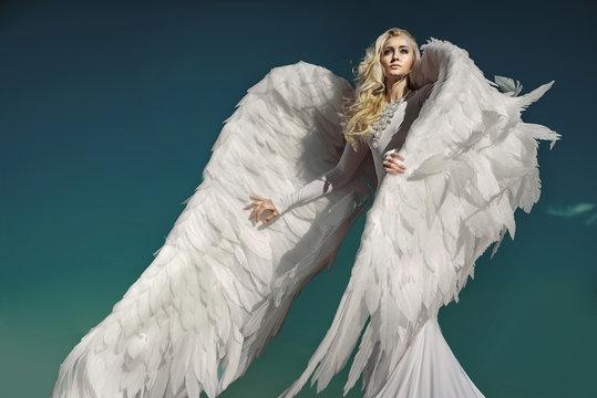 Portrait of an elegant, blond angel